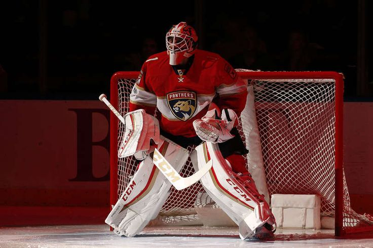 SUNRISE, FL - FEBRUARY 24: Goaltender Roberto Luongo #1 of the Florida Panthers in front of the net prior to the start of the game against the Calgary Flames at the BB&T Center on February 24, 2017 in Sunrise, Florida. (Photo by Eliot J. Schechter/NHLI via Getty Images)