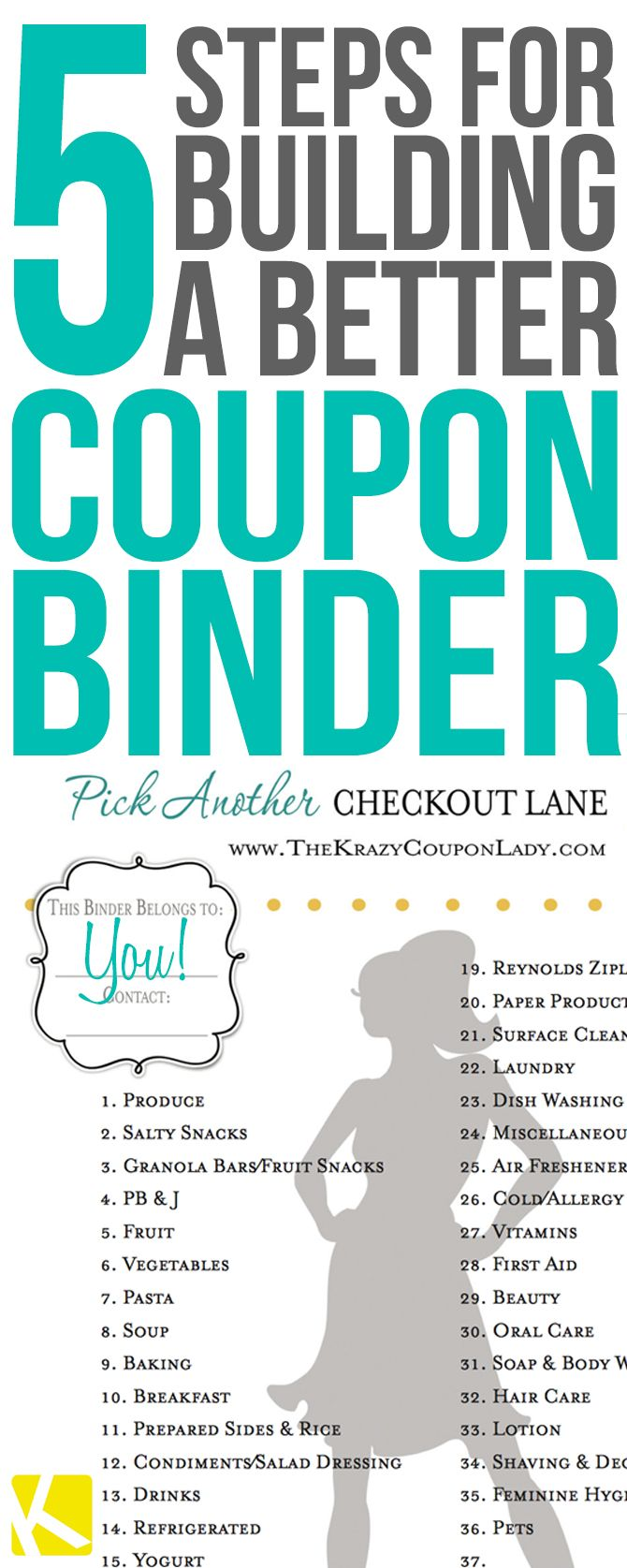 Create and craft coupons - 5 Easy Steps To Create And Maintain Your Coupon Binder