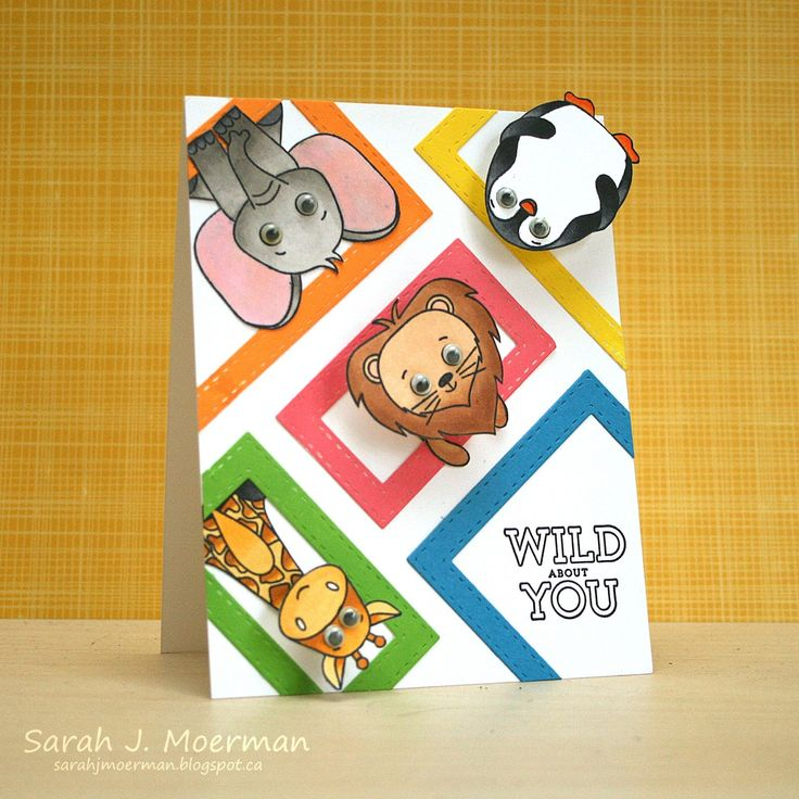 Hi everyone!      I'm stopping by to share another card featuring the adorable  Simon Says Stamp April 2017 Card Kit: Wild and Colorful .   ...