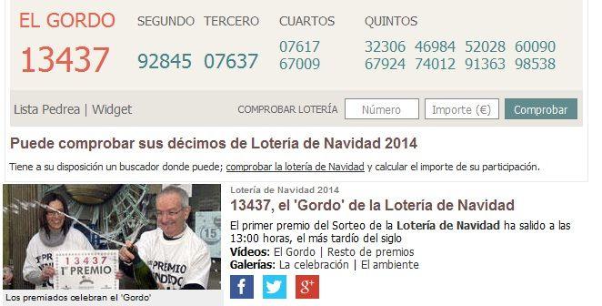 El 13.437 se queda con el Gordo de Navidad de este año - #GordoDeNavidad, #Lotería, #Noticias, #Sorteos http://navidad.es/15386/13-437-gordo-de-navidad-2014/