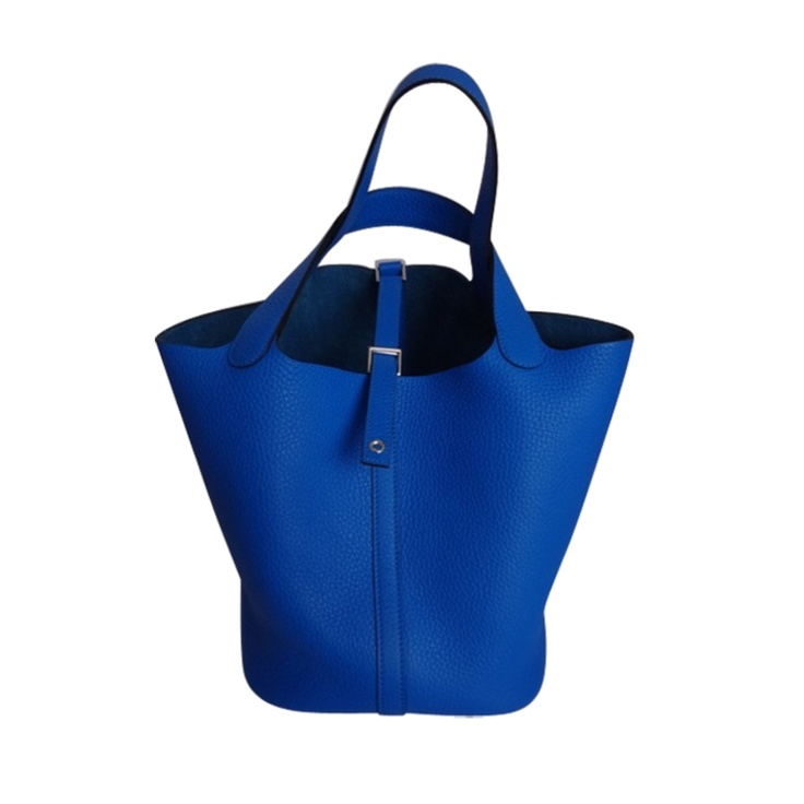 Hermes Picotin MM Bleu Hydra. Taurillon Clemence | Hermes, Fashion ...