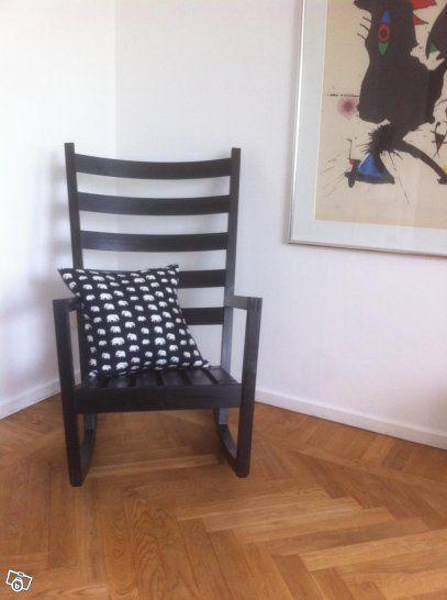 Ny Ikea Värmdö gungstol / fåtölj, svart
