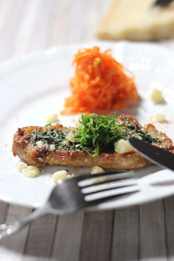 パルミジャーノ レッジャーノで豚ロース肉の照り焼き by yakko ...