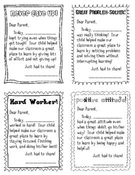 parent communication and positive notes home education ideas