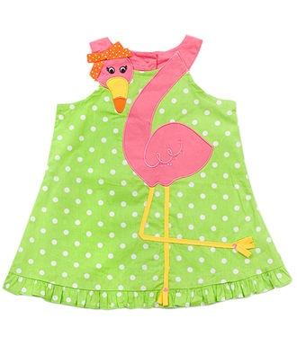 Rare Editions Baby Dress, Baby Girls Flamingo Dress - Kids - Macy's