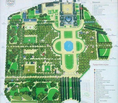 Les plans du jardin du luxembourg paris 6e paris pinterest luxembourg and paris - Plan detaille du jardin des tuileries ...