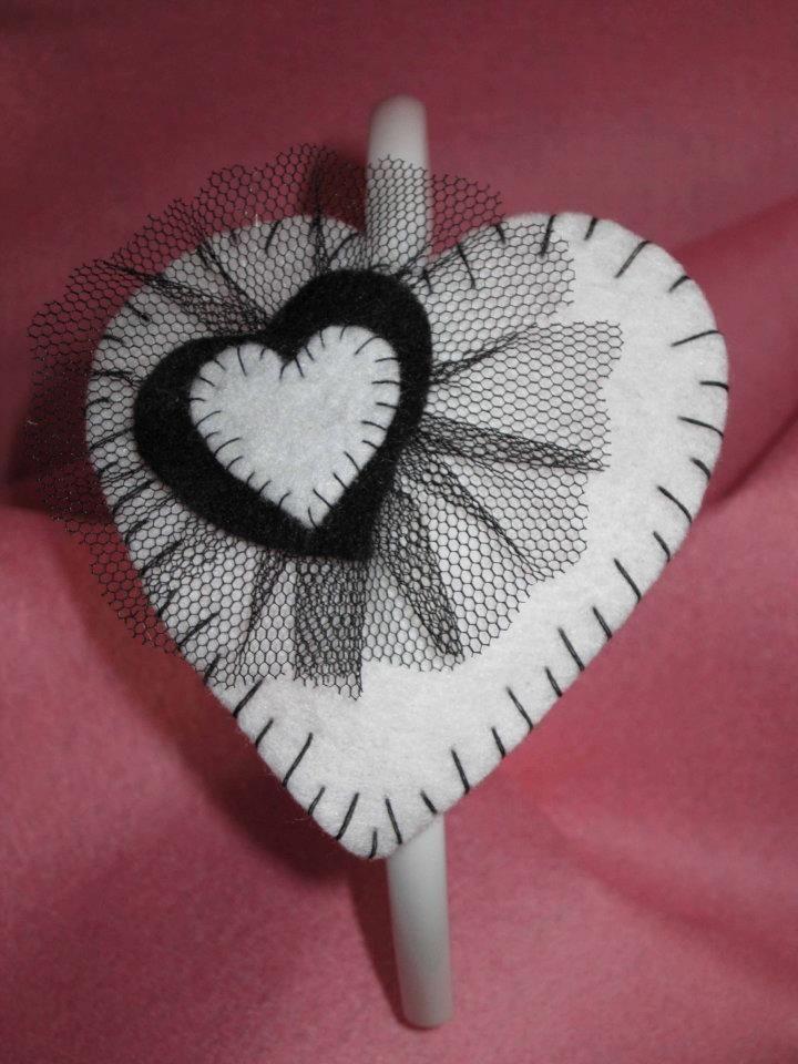 corazon con tul