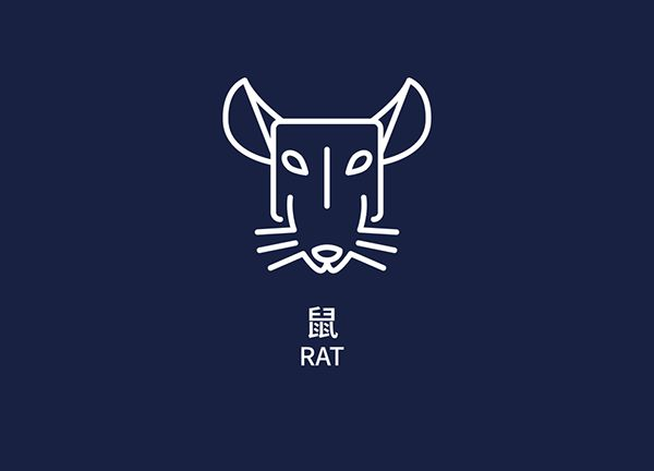 twelve Chinese zodiac signs on Behance