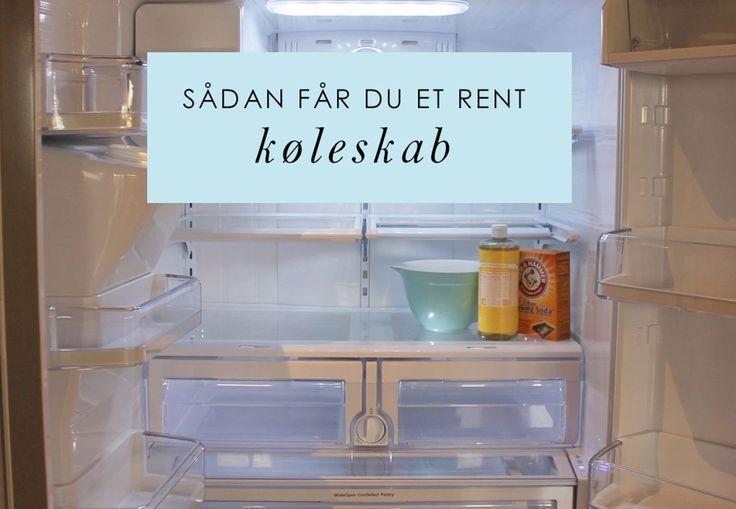 Rengøring | Sådan får du et rent køleskab | Bobedre.dk