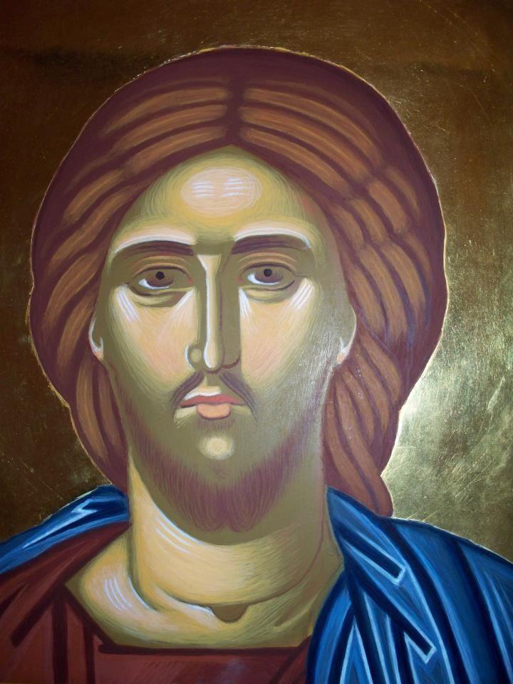 Κύριος Ιησούς Χριστός - Αυγοτέμπερα σε ξύλο. Lord Jesus Christ - Egg tempera on wood.