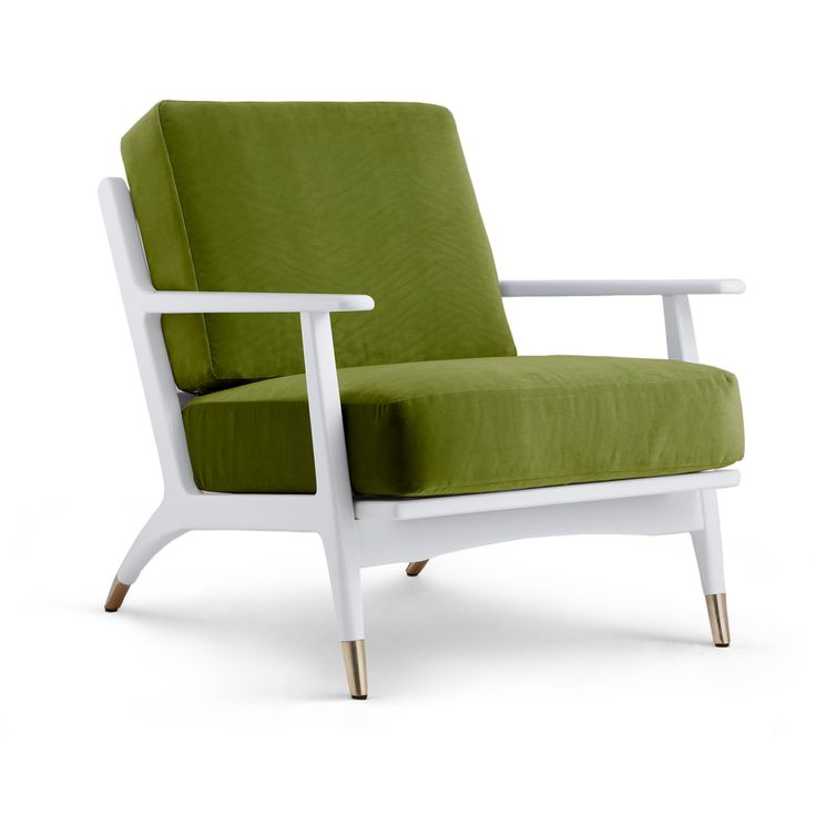 Hart Lounge Chair Velvet Cushion Cover, Green - Bungalow 5