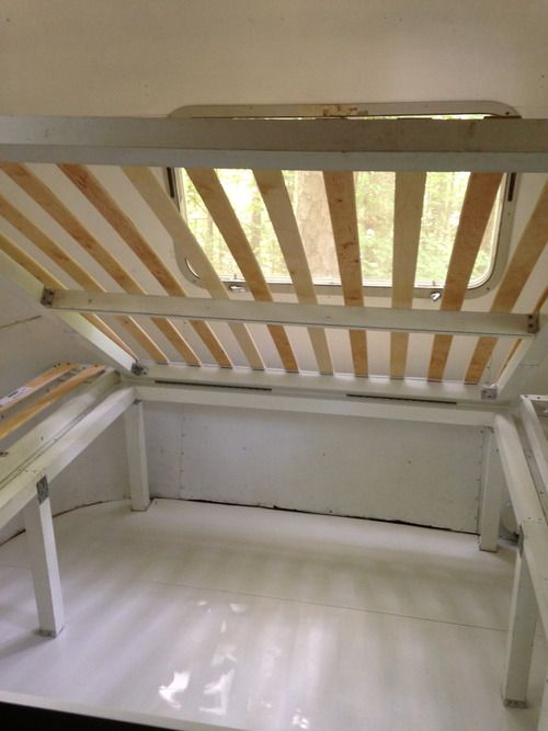 Bed Frame With Storage Airstream Interior Ideas Pinterest