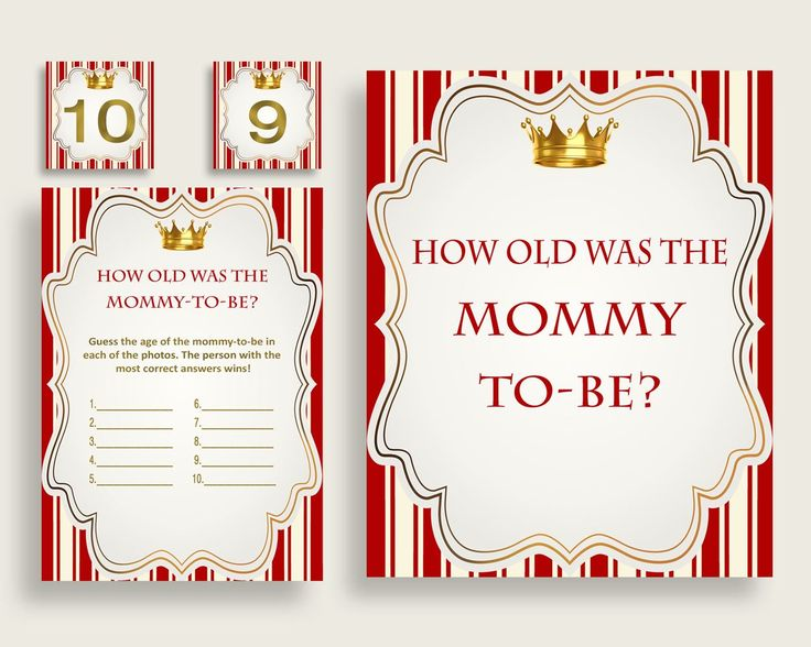 How Old Was Mommy Baby Shower How Old Was Mommy Prince Baby Shower How Old Was Mommy Red Gold Baby Shower Prince How Old Was Mommy 92EDX - Digital Product #babyshowergifts #babyshowerideas