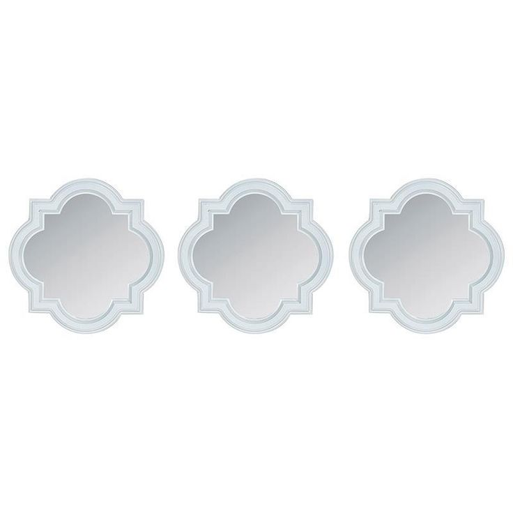 Great wall mirror set in white color. www.inart.com