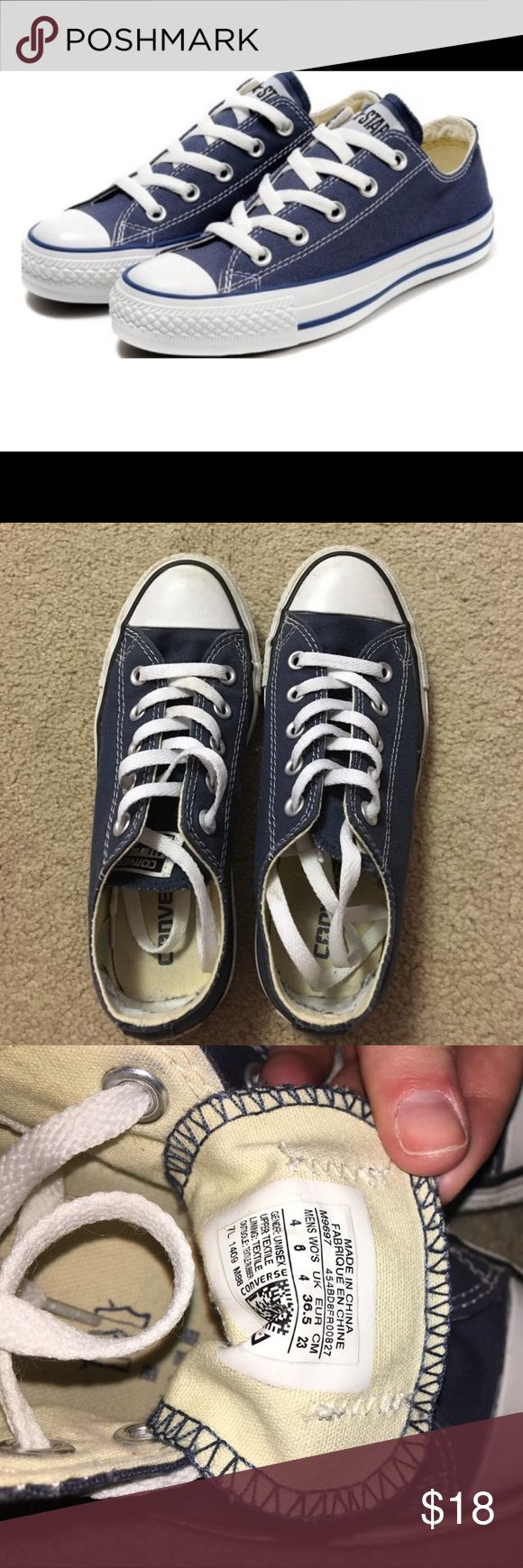 Navy Converse Size 6 Like New Slightly used. In great condition. Look like new! Converse Shoes Sneakers