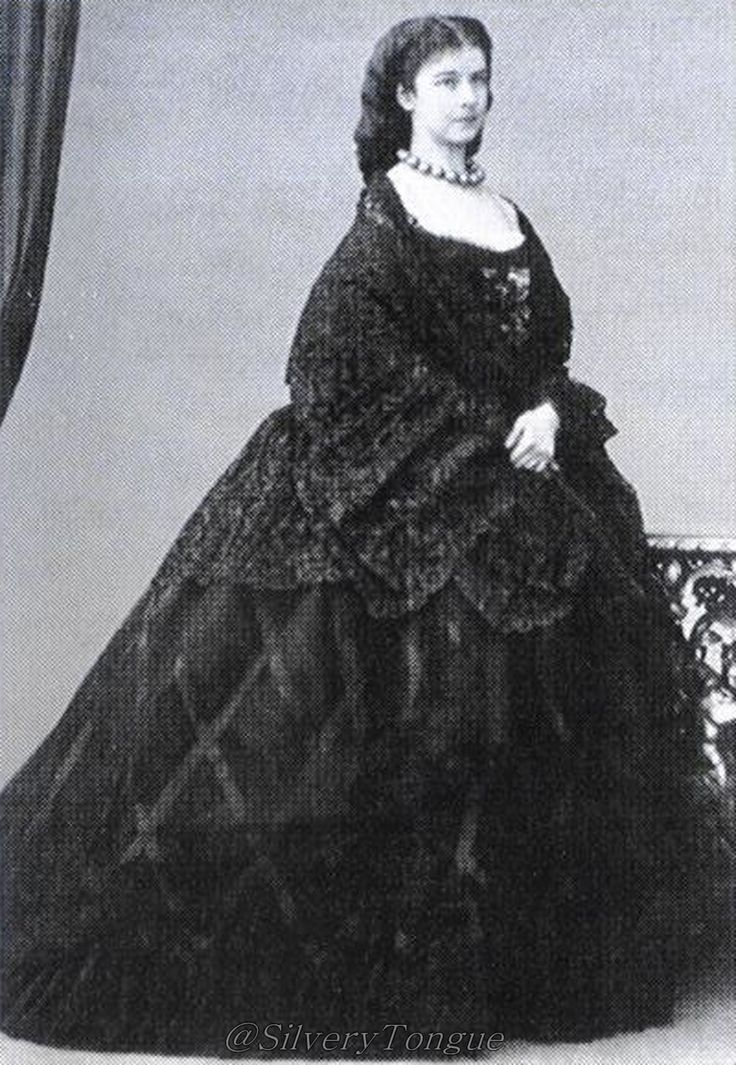 1862 Sisi with wrap-veil in Venice- Empress Elisabeth of Austria (due to the movie also known now as Sissi, 1837-1898)