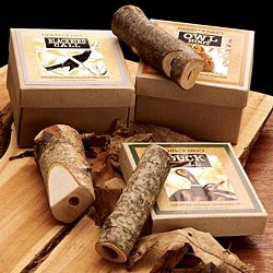 Hand-made Wooden Bird Calls for bird watchers at home or out in the field.