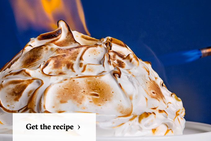 How To Make Baked Alaska Meringue Icing Alaska And Cake