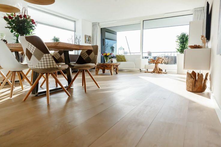 Houten vloer in nieuwbouw appartement