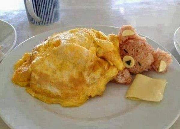 Bear Shaped Omelette ~ GOODIY