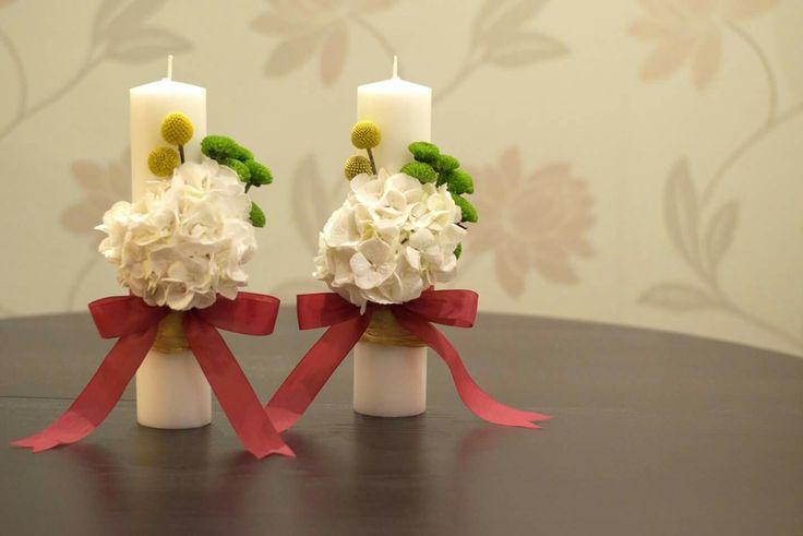 #wedding #candels #hydrangea