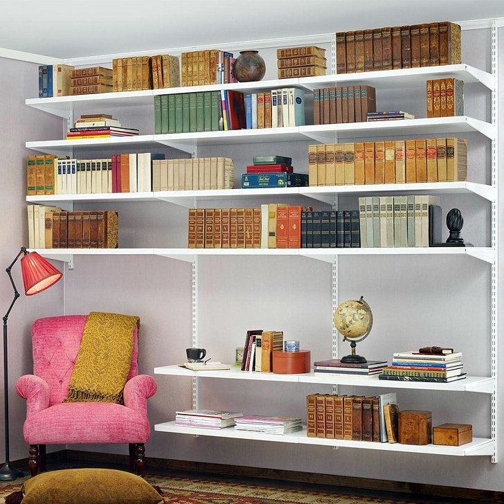 The sophisticated lines, subtle elegance and exceptional strength of elfa provide the perfect backdrop for your entire collection of literature!