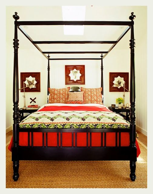 indian ethnic bedroom interiors (Reminds me of the iconic bedroom image from Kathryn Ireland's home)