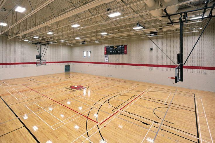 Fanshawe College Gymnasium Basketball Court Hardwood