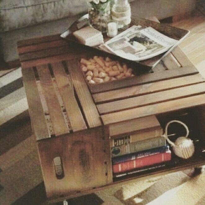 Fruitkisten tafel