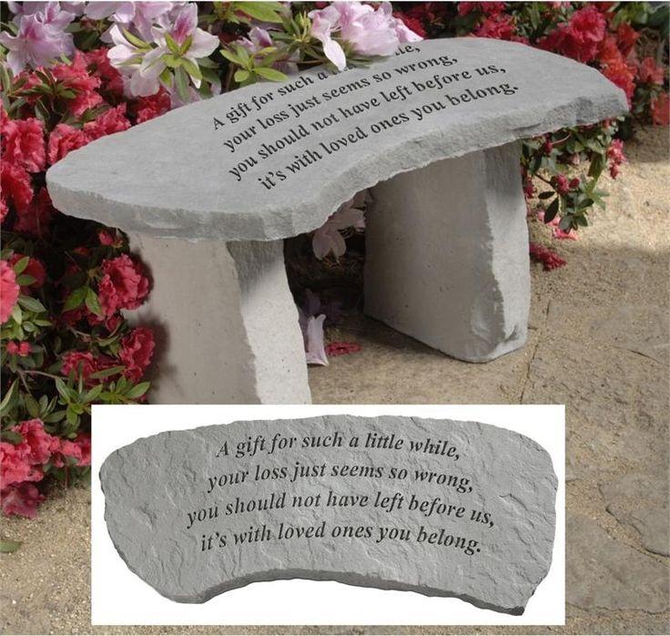 loss of a child gift idea memorial idea for infants memorial garden bench