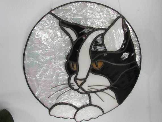 Black And White Glass Cat