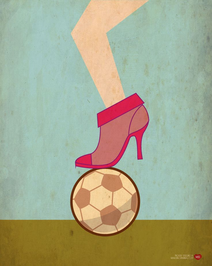 illustration for donnamoderna magazine. #shoes #football #pink #sport #girl #lady #illustration