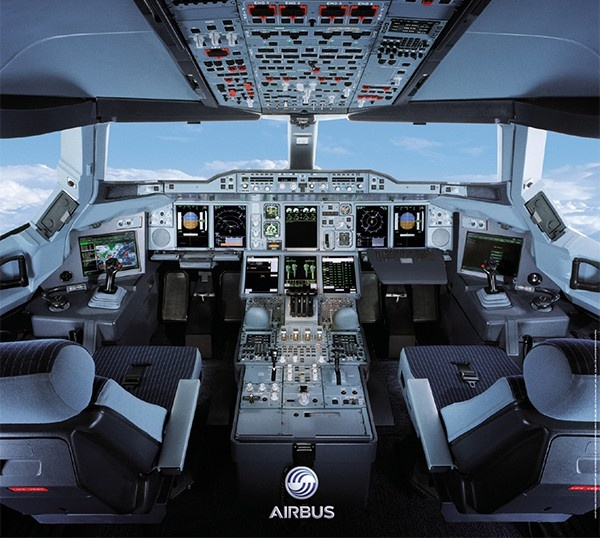 Commercial Pilot Wallpaper Hd A380 Cockpit Poster The Official Airbus Merchandise