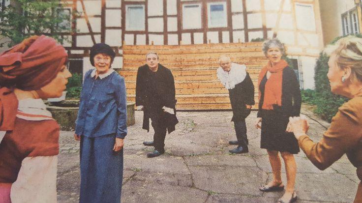 """... erste Kostümprobe zu den """"Hexen"""" im Serenadenhof Sindelfingen"""