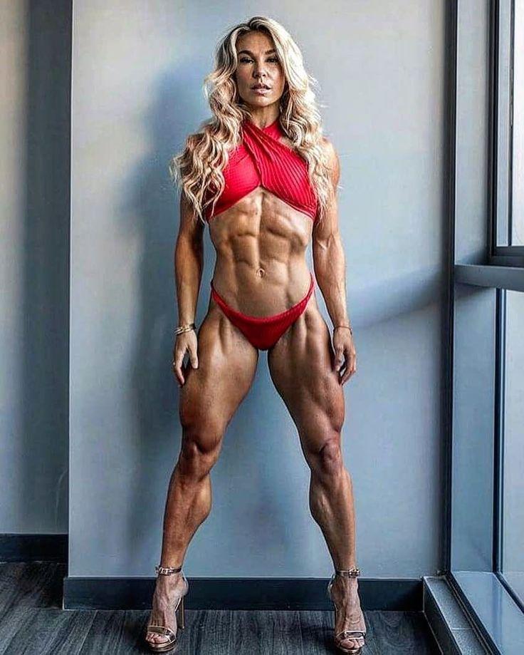 Mobile female muscle calves