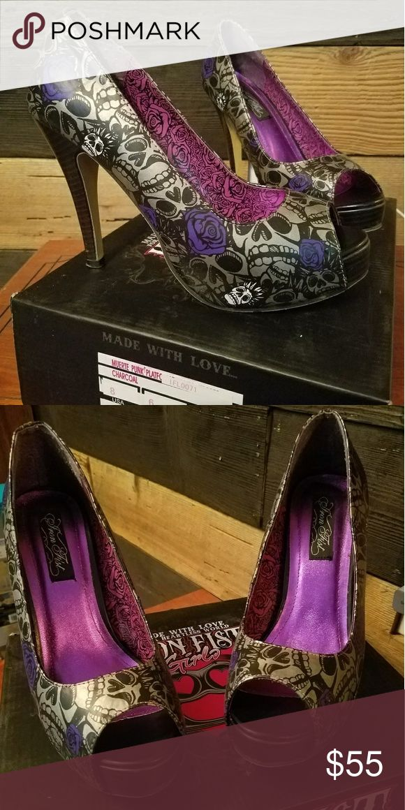 Spotted while shopping on Poshmark: Iron Fist heels size 8! #poshmark #fashion #shopping #style #Iron Fist #Shoes