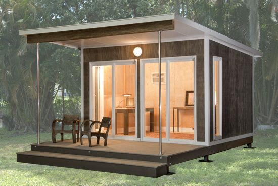 MetroCABIN Zip Series by MetroPrefab. No permit required (most places) - starts at 15,650 dollars