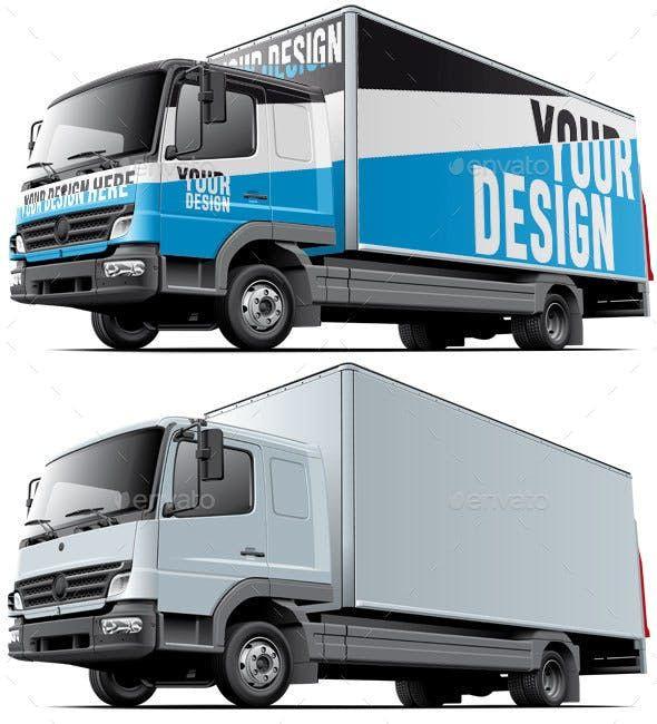 Light Commercial Truck Mockup Commercial Vehicle Trucks Truck