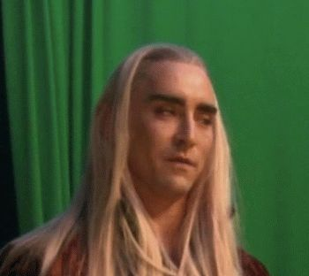 """Thranduil shaking his head in disbelief that Legolas is married to Galadwen.(See my """"The look of the Queen of Mirkwood"""" board and Galadwen is the shipwife of Legolas,PLEASE MAKE THIS CANNON!)"""