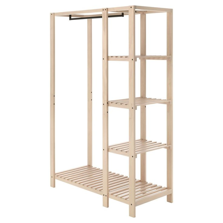 Ankleide Regale Whitmor Slat Wood Wardrobe | Regal, Ankleide Zimmer ...