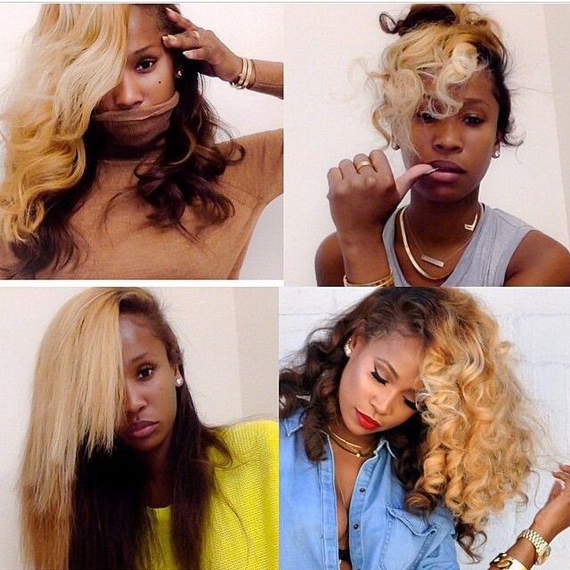 Who knew blond and Dark Chocolate hair colors can look so fierce together? #Beyoncé inspired