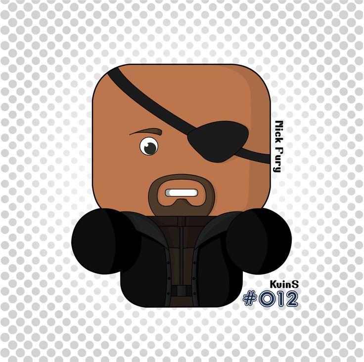 #Nick #Fury #Avengers #Shield #MarvelComics #Illustration #Illustrator #GraphicDesign #KvinS