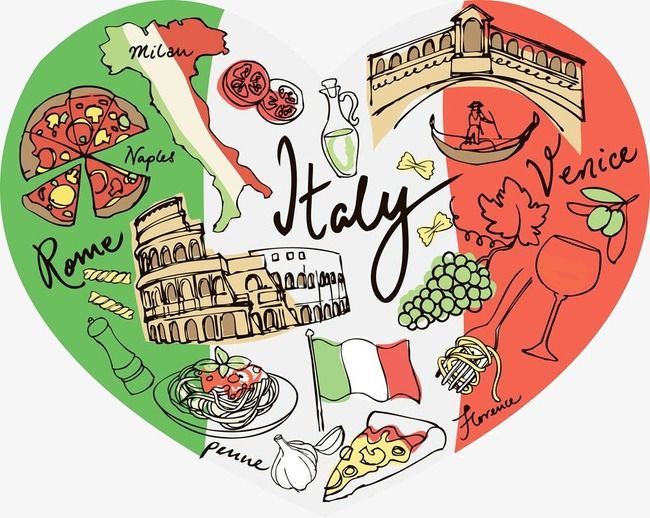 Italy Italy Clipart Pizza Heart Shaped Png And Vector With Transparent Background For Free Download Italy Art Italy Map Heart Shapes