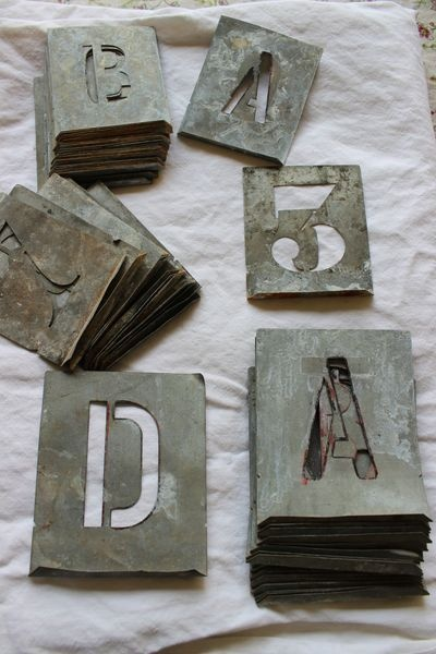 Zinc Alphabet and Number Stencils