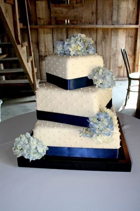 Offset square wedding cake. Similar to what ours will look like.