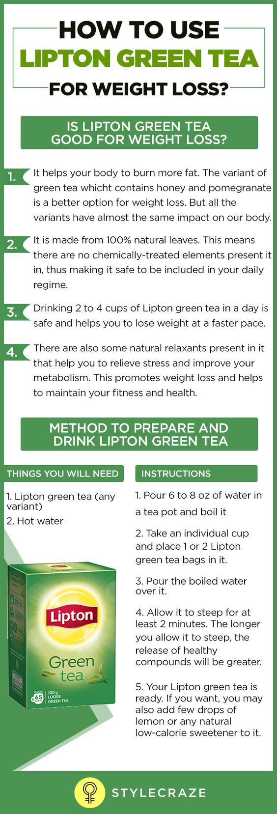 Green tea is the world's healthiest drink. And Lipton green tea is one of the most trusted green tea brands in the world. -- Be sure to check out this awesome article.