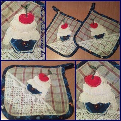 Cupcake edényfogó pár