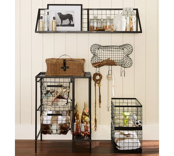 Estante de almacenamiento en alambre con forma de hueso / Wire Bone Storage / perros / dogs /decoración / decor / Pottery Barn /Mediterranean Natural