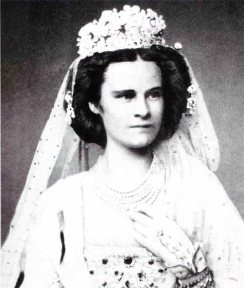 """Princess Helene of Thurn and Taxis, Sister of Empress Elizabeth (""""Sissi"""") of Austria."""