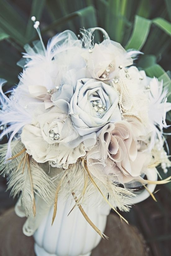 Feather And Flower Wedding Decorations